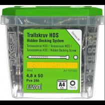 4,8x50 terrassikruvi HDS tx15/A4/C5-250tk/karp ESSVE